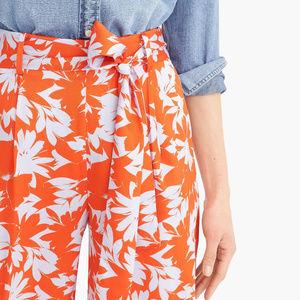 J, Crew | Wide Leg Floral Pant, Size 2